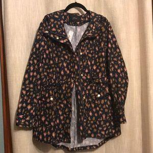 J Crew Perfect Raincoat in Leopard